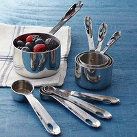 All-Clad Stainless-Steel Measuring Cups &amp; Spoons | Williams-Sonoma