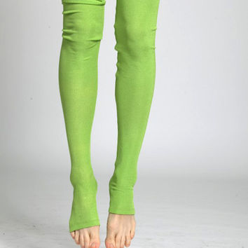 Leggings, tights, extra long patterened and textured