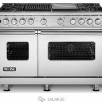 VDSC548-4GQSS Viking 48&quot; Custom Sealed Burner Dual Fuel Pro Style Range with 4 Burners, Griddle &amp; Grill - Stainless Steel