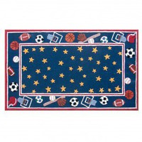 The Rug Market All-Stars Blue Kids Rug - 16410B - Kids' Rugs - Area Rugs by Style - Area Rugs