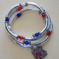 Baseball fan bracelet -- Boston Red Sox