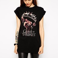 ASOS Boyfriend T-Shirt with Game Of Thrones Print