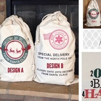 PERSONALIZED SANTA BAGS in time for CHRISTMAS!