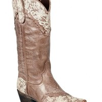 Lane Jeni Lace Embroidered Cowgirl Boots - Snip Toe - Sheplers