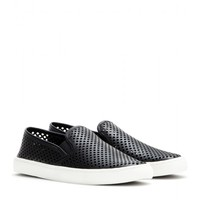 tory burch - jesse leather slip-on sneakers