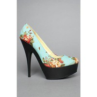 *Sole Boutique Women's Hugo XIII Shoe in Blue Floral Shoes from Karmaloop | Beso.com