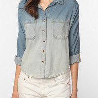 BDG Breezy Chambray Button-Down Shirt - Ombre