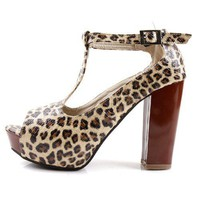 Villa leopard patterned fat heel - Shoes