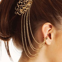 ear-cuff-hair-comb-combo GOLD SILVER - GoJane.com