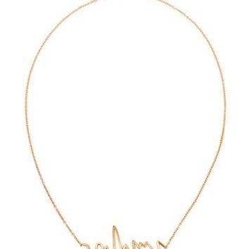 WOODBURY   Love on the Beat 18k Yellow Gold Necklace   Browns fashion & designer clothes & clothing