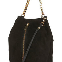Box Chain Suede Bag - Bags & Purses  - Accessories