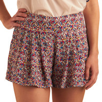 Red, White, and Bloom Shorts | Mod Retro Vintage Shorts | ModCloth.com