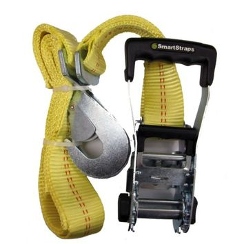 SmartStraps® 8 FT. L Yellow Ratchet X with Snap Hooks, 3,333 lb. Safe Work Load