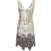 Sequin Flapper Dress - Oasis - Polyvore