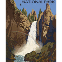 Tower Falls - Yellowstone National Park Premium Poster