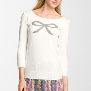 Frenchi® Bow Sweater (Juniors) | Nordstrom