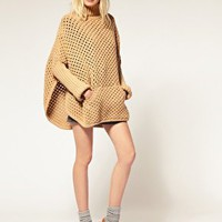 See by Chloe Wool Knitted Cape at ASOS