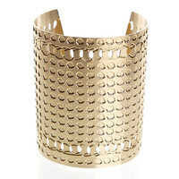 Large Gold cuff straight dots
