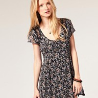 Winter Kate | Winter Kate Goldfield Dress In Floral Printed Silk Chiffon at ASOS