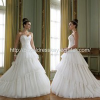 Ball Gown Tulle custom made wedding dress bridal dress wedding gown