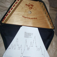 Nepenenoyka Hand Made Belarussian Lap Harp w/case and music