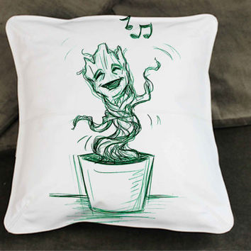 i am baby groot singing pillow case custom zippered pillow case one side and two sides