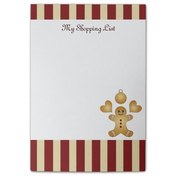 Cute Christmas Holiday Cookies Personalized Sticky Note Pads for Cookie Lovers and Bakers