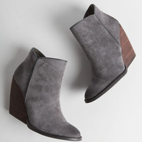 Whitby Demi Wedge Bootie In Gray