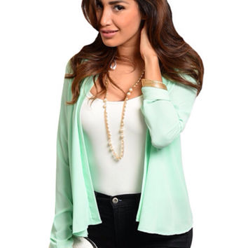 Mint Drape Jacket