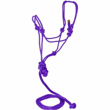 DuMOR® Purple Braided Rope Halter and Poly Lead