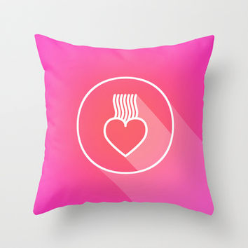 Icon No.2. Throw Pillow by Chobopop