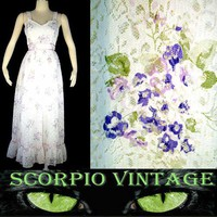 Cute little Lace Dress with Silk Screened Flowers - On Ebay