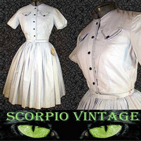 Bobby Brooks NOSs 50's Shirtwaist Dress - On Ebay