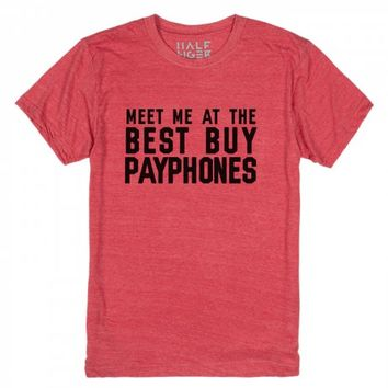 Meet me at the best buy payphones-Unisex Heather Red T-Shirt