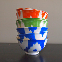 Harabu House - Handmade Vintage Ikat Ceramic Bowl - Medium