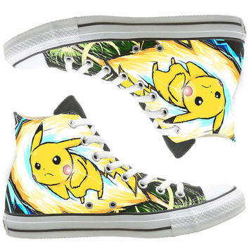 Anime Converse custom painted shoes, custom shoes by natalshoes