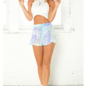 High On Life Shorts in Blue Tie Dye | SHOWPO Fashion Online Shopping