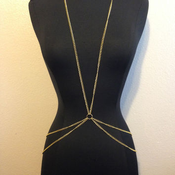 Gold Double Belly Circle Body Chain – Gold Soul