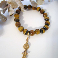 Tiger Eye Bracelet  - Stretch/Stack by 636designs