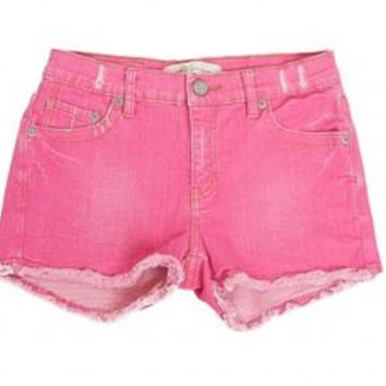 Passion Fruit Mini Cutoff Shorts for Women by m2f