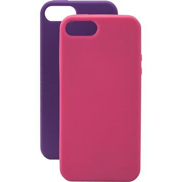 Dynex™ - Cases for Apple® iPhone® 5 and 5s (2-Pack) - Ruby/Amethyst