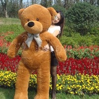 HOT! 100CM GIANT BIG CUTE Brown PLUSH TEDDY BEAR HUGE SOFT 100% COTTON TOY