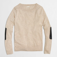 Factory leather-patch Charley sweater : charley   J.Crew Factory