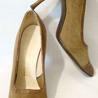 50's Suede & Snake Stiletto Pumps from Saks...Now at my new site!