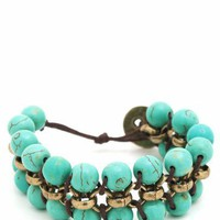 caterpillar-bead-button-bracelet MINTBROWN - GoJane.com