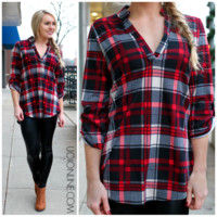 For You I Will Flannel - Red