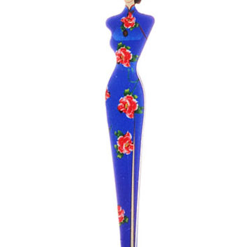 China Doll Glam Tweezers in Blue - PLASTICLAND