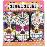 Sugar Skull Nail Emory Boards - Set of 3 - PLASTICLAND
