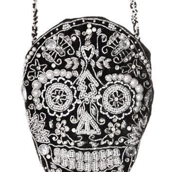 Sophisticated Sugar Skull Evening Bag - PLASTICLAND