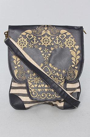The Heavy Woven Canvas Skull Crossbody